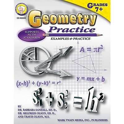 Carson Dellosa® Geometry Practice Book Resource Book, Grades 7 - 8