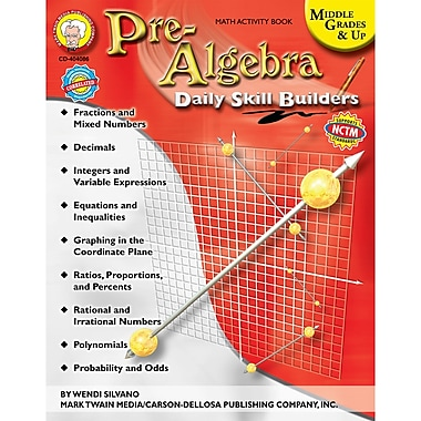 Carson Dellosa® Daily Skill Builders Pre-Algebra Resource Book, Grades 6 - 12