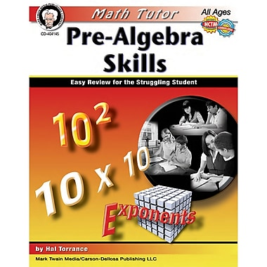 Carson-Dellosa Math Tutor Pre-Algebra Resource Book, Grade 6 - 8 (CD-404145)