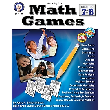 Carson-Dellosa Math Games Resource Book, Grade 7 - 8 (CD-404153)