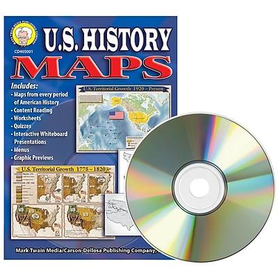 Carson Dellosa® Mark Twain Media U.S. History Maps CD - ROM, Grades 5 - 8