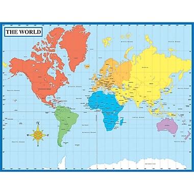 Carson Dellosa® Map of the World Chart, Social Studies