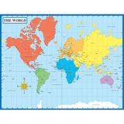 Carson Dellosa® Map of the World Chart, Social Studies