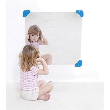 Childrens FactoryMD – Miroir carré pour enfants de 24 po, 24 x 24 x 0,06 po