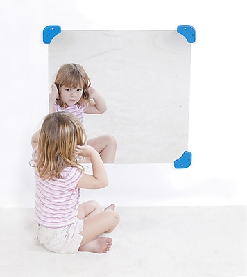 Childrens Factory® Mirror With Mirror Corners And Side Safes, 24