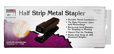 Charles Leonard Half Strip Stapler, Black