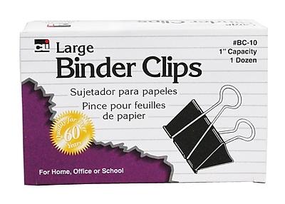 Charles Leonard Binder Clip, Large, 9/Bundle