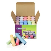 "Chenille Kraft® Creativity Street® Sidewalk Chalk, 4"" x 1"", Assorted, 80/Pack"