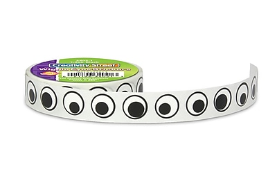 Chenille Kraft® Wiggle Eyes Stickers On A Roll, Black eyes