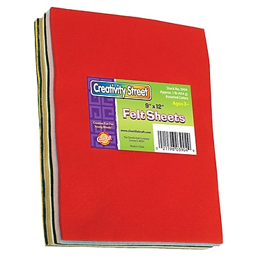 Chenille Kraft Ck3904 Creativity Street Multicolour Felt Sheets, 9