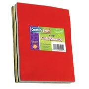 "Chenille Kraft Ck3904 Creativity Street Multicolour Felt Sheets, 9"" x 12"", 60/Pack (CK-3904)"