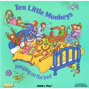 "Childs Play ""Ten Little Monkeys"" Classic Book with Holes (CPY0859538885)"