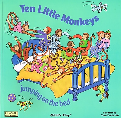 Childs Play® Classic Books-With-Holes, Ten Little Monekys