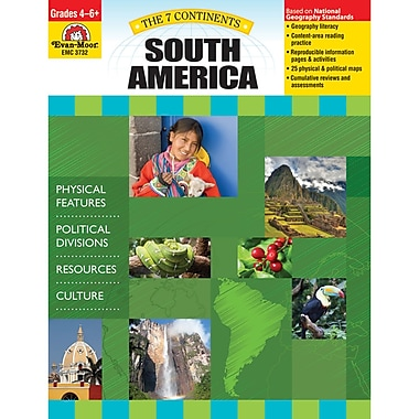 Evan-Moor® The 7 Continents South America Teacher Resource Book (EMC3732)