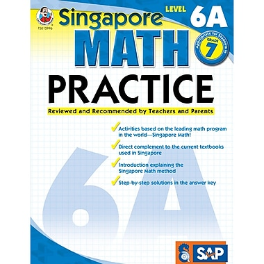 Carson Dellosa® Frank Schaffer Singapore Math Practice Level 6A Workbook, Grades 7