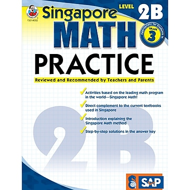 Carson-Dellosa Frank Schaffer Singapore Math Practice Level 2B Workbook, Grade 3 (FS-014002)