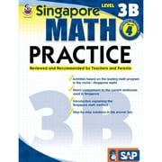 Carson Dellosa® Frank Schaffer Singapore Math Practice Level 3B Workbook, Grades 4