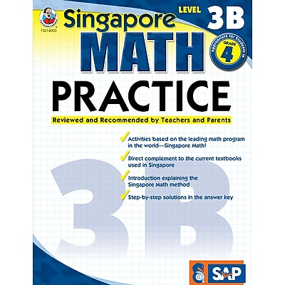 Singapore Math Practice Resource Book, Level 3B, Grade 4