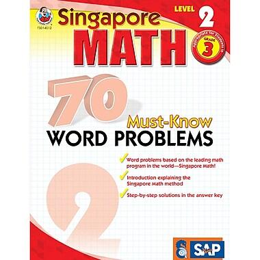 Carson Dellosa® Frank Schaffer Singapore Math 70 Must-Know Word Problems Level 2 Workbook, Grades 3