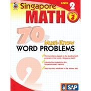 Singapore Math 70 Must-Know Word Problems Resource Book, Level 2, Grade 3
