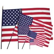 "Flagzone Heritage U.S. Classroom Flag, 12"" x 18"", 4/Pack (FZ-1049274)"