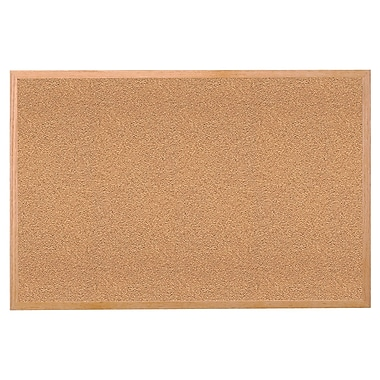 Ghent® Wood Frame Cork Bulletin Board, 18