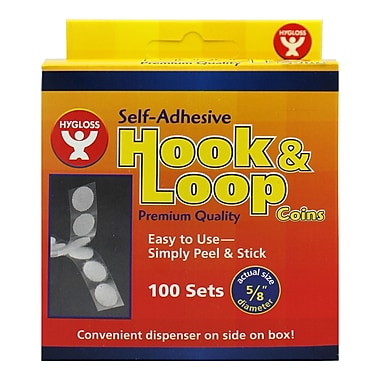 Hygloss Hook And Loop Fastener Coins, 5/8