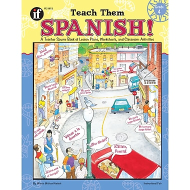 Carson Dellosa Teach Them Spanish! Resource Book, Grade 4 (IF-21052)