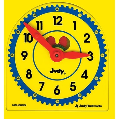 Carson Dellosa My Own Little Judy Plastic Clock with Booklet Manipulative, Grade Pre-Kindergarten 1 (J-209044)
