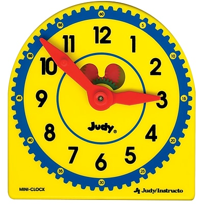 Carson Dellosa® Judy® Plastic Clock Class Pack With Manipulative, Grades K - 3