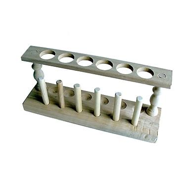 American Educational Products - Portoir pour tubes à essai en bois, 2e année à secondaire 5 (AEP71406)