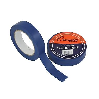 Champion Sports – Ruban de plancher, 1 po x 108 pi, bleu (CHS1X36FTBL)