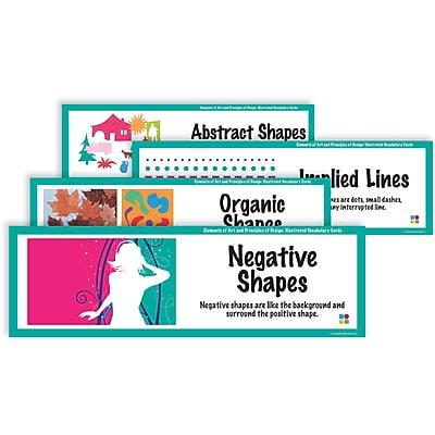 Crystal Productions E & P Illustrated Vocabulary Art Display Cards, Grades Preschool - 9