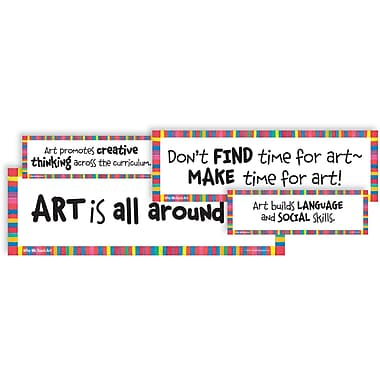 Crystal Productions Why We Teach Art Display Cards, Grades Preschool - 9