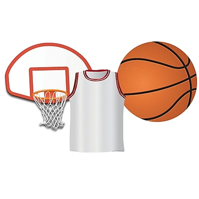 Eureka® Basketball Assorted Cut Outs