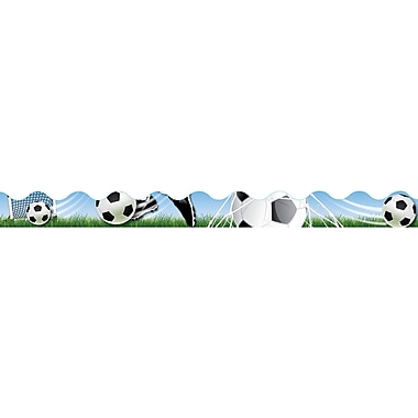 Eureka® Infant - 12th Grade Scalloped Deco Trim, Soccer Deco