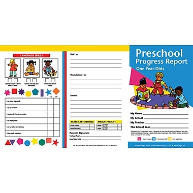 hayes preschool progress report card 10 pack staples. Black Bedroom Furniture Sets. Home Design Ideas