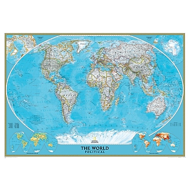National Geographic Maps® World Mural Map
