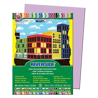 Pacon® Riverside® Groundwood Construction Paper, Lilac, 12