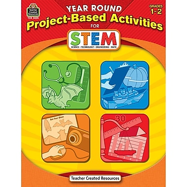 Teacher Created Resources Year Round Project-Based Activities For Stem Book, Grade 1 - 2 (TCR3025)