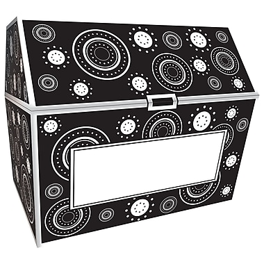 Teacher Created Resources Crazy Circles Treasure Chest, Black/White