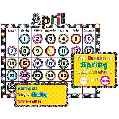 Teacher Created Resources Calendar Bulletin Board Display Set, Fancy Circles (TCR5205)