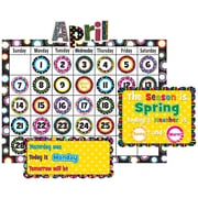 Teacher Created Resources Calendar Bulletin Board Display Set, Fancy Circles