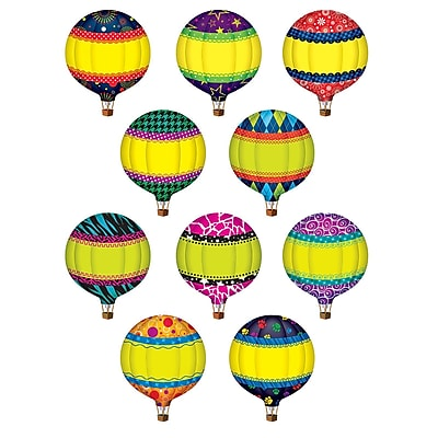 Teacher Created Resources® Hot Air Balloons Accents, 30 Pieces.