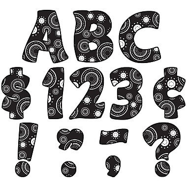 Teacher Created Resources Uppercase Letters, Crazy Circles Funtastic, 81/Pack (TCR5350)