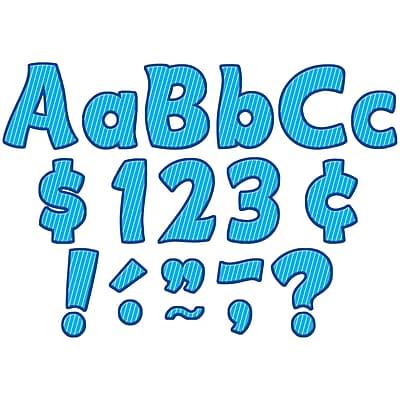 Teacher Created Resources® Blue Pinstripe Funtastic Font 4