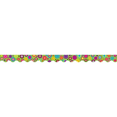 Teacher Created Resources Infant - 12th Grade Scalloped Border Trim, Lime Colorful Circles
