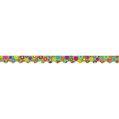 Teacher Created Resources® Lime Colorful Circles Scalloped Border Trim