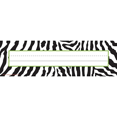 Teacher Created Resources® Zebra Name Plates