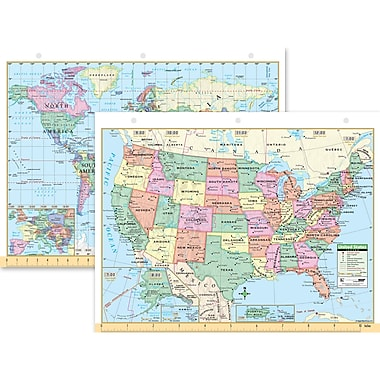 Globes Maps Flags Staples - Us world map